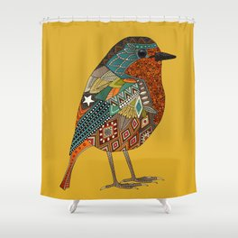 robin gold Shower Curtain