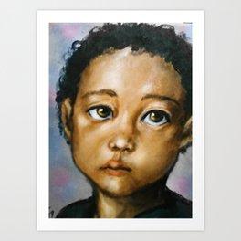 Picture Day (boy portrait) Art Print