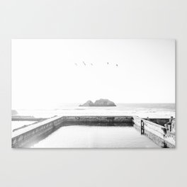 Sutro Baths B&W Canvas Print