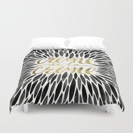 Crème de la Crème – Black & Gold Duvet Cover