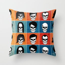 Hairstyles for Skulls Throw Pillow