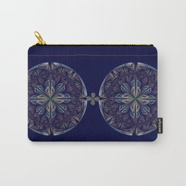 Fantasy flower bud opening up, fractal abstract Carry-All Pouch