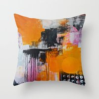 tokyo Throw Pillows featuring tokyo by Cathrin Gressieker