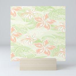 Coral Hibiscus Jungle Print Mini Art Print