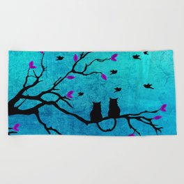 Lovecats - Together forever Beach Towel