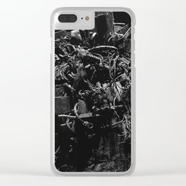 Tangled In Darkness Clear iPhone Case