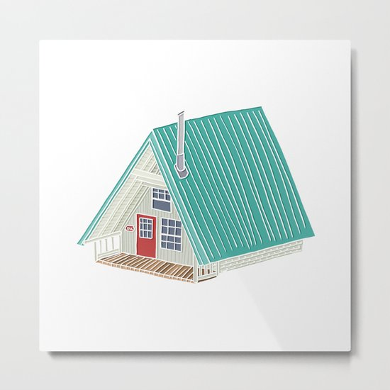Little A Frame Cabin Metal Print