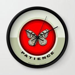 Fruit of the Spirit, Patience (Red & Ecru) Wall Clock