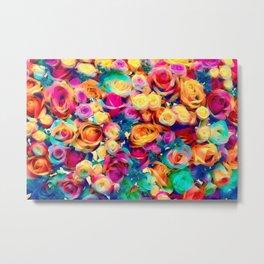Colored roses. Metal Print