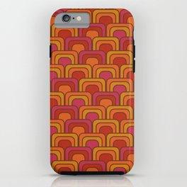 Geometric Retro Pattern iPhone Case