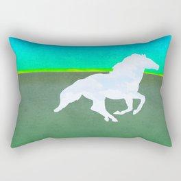 The flight of the enchanted horse Rectangular Pillow