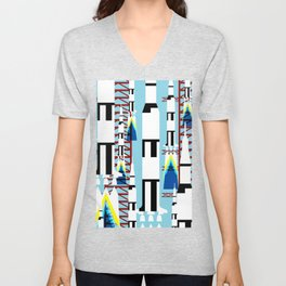 Saturn V launch Unisex V-Neck
