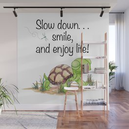Smiling Turtle Wall Mural