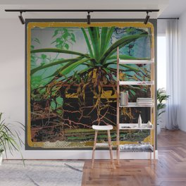 FAVORITE GREEN AGAVE & ROOTS GREENHOUSE  PHOTO Wall Mural