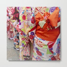 Rainbow Kimono Metal Print