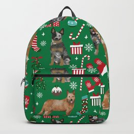 Austrian Cattle Dog red and blue merle christmas presents holiday dog breed pattern pet friendly Backpack