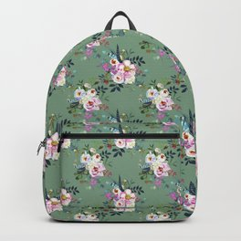 Watercolour White Peonies Pattern Backpack