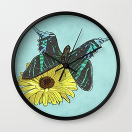 Perfectly Balanced Butterfly Wall Clock