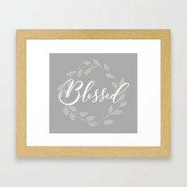 Blessed with Wreath Framed Art Print