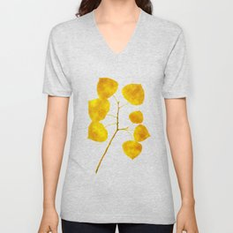 Gold Leaf Art Unisex V-Neck