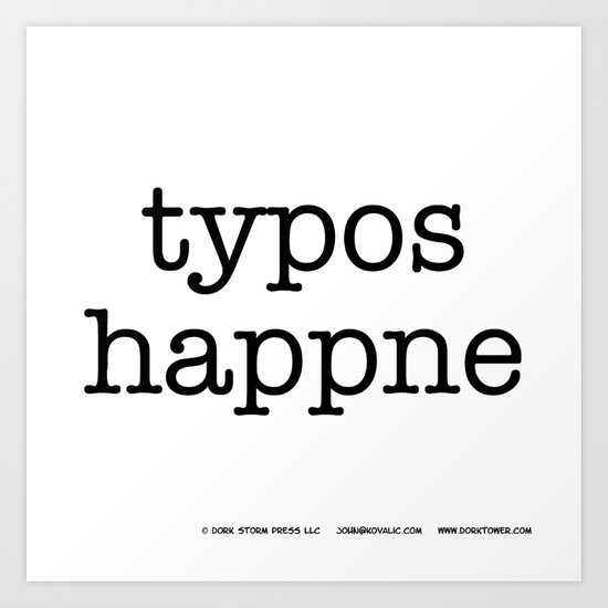 Typos Happne Art Print