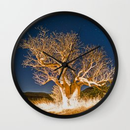 Boab and Stars Wall Clock