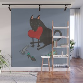 Black Dog Love Wall Mural