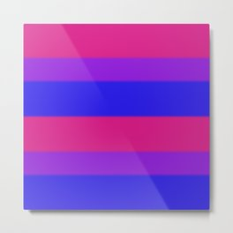 Bisexual Pride Flag v2 Metal Print
