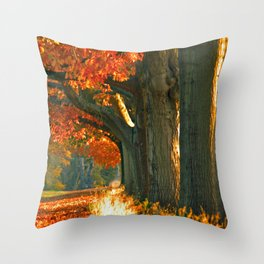 Oak trees  Throw Pillow