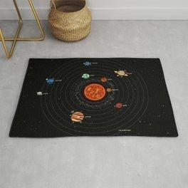 Solar System, Galaxy, Universe, Cosmos Astronomy Chart, Educational Rug