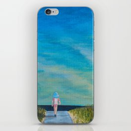 Walking to the Beach iPhone Skin