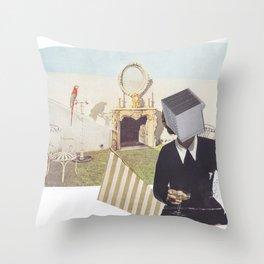 Blockhead Throw Pillow