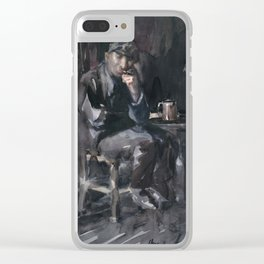 David Parrish Interior of a Tavern , George Luks Clear iPhone Case
