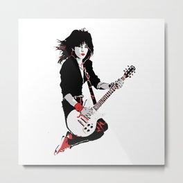Joan Jett, The Queen of Rock Metal Print
