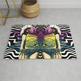 Vulture (Debbie Harry of Blondie) pop art Rug