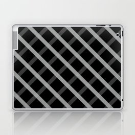 Gray White Square Pattern Geomeric Laptop & iPad Skin