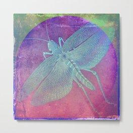 Distressed Grasshopper Metal Print