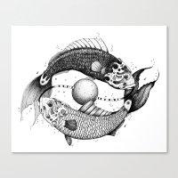 pisces Canvas Prints featuring Pisces by PAgata