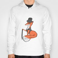 mr fox Hoodies featuring Mr Fox by Cat Milchard
