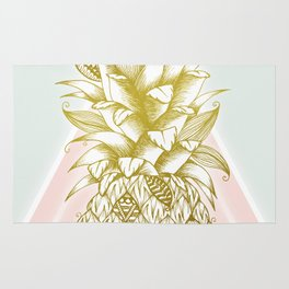 Golden Pineapple Rug