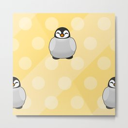 Cute Penguin Chicks  Metal Print