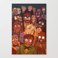 muppets Canvas Prints featuring The Muppets by Groovy Bastard