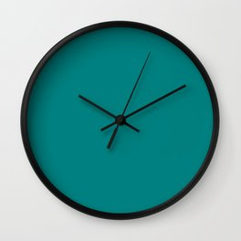 Classic Teal Simple Solid Color All Over Print Wall Clock