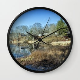 Pond in late autumn Wall Clock