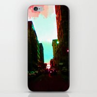 detroit iPhone & iPod Skins featuring Detroit by Casalmon