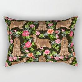 Cocker Spaniel hawaiian tropical print with dog breeds cocker spaniels Rectangular Pillow