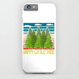 Happy Little Tree Outdoor Mountain Hiking Bigfoot Sasquatch Official Bigfoot Research Team T-shirt iPhone Case