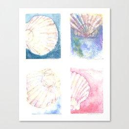 Scallops - 4 Vignettes Canvas Print