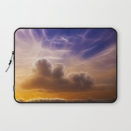 Fractal skies sunset Laptop Sleeve