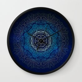 Cosmic Mandala Wall Clock